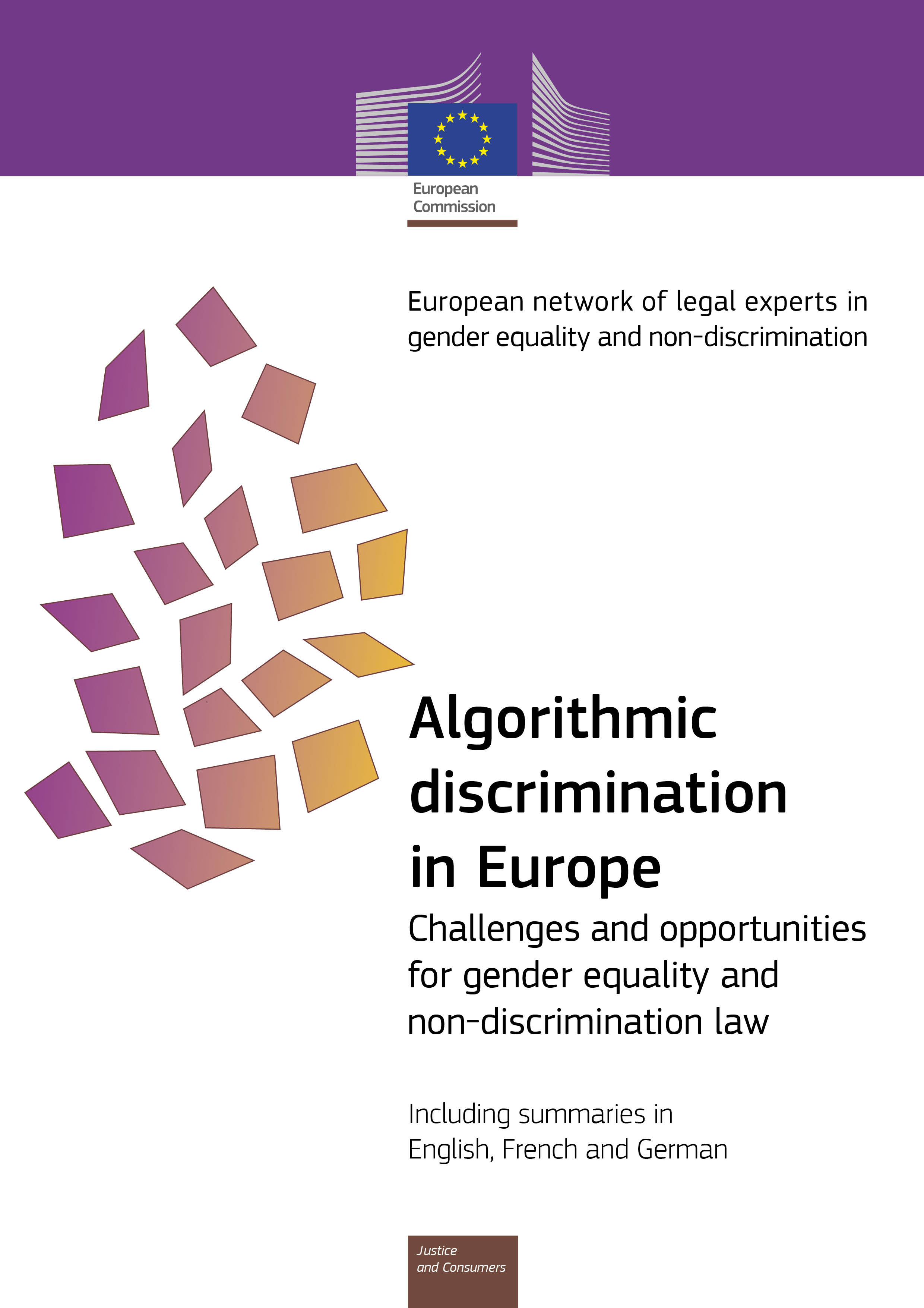 Cover image of Algorithmic discrimination in Europe