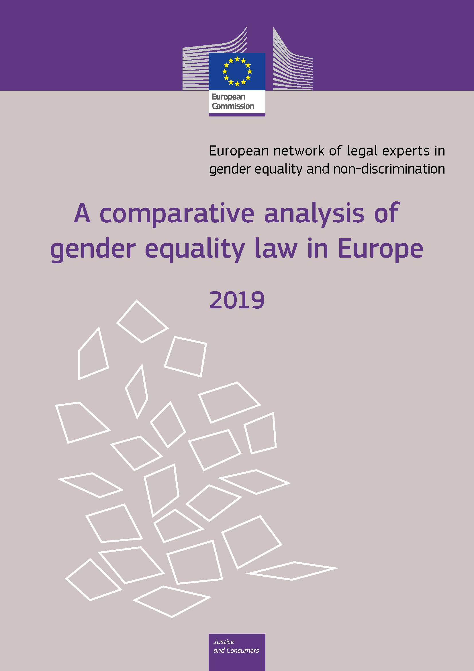 Cover image of A comparative analysis of gender equality law in Europe 2019