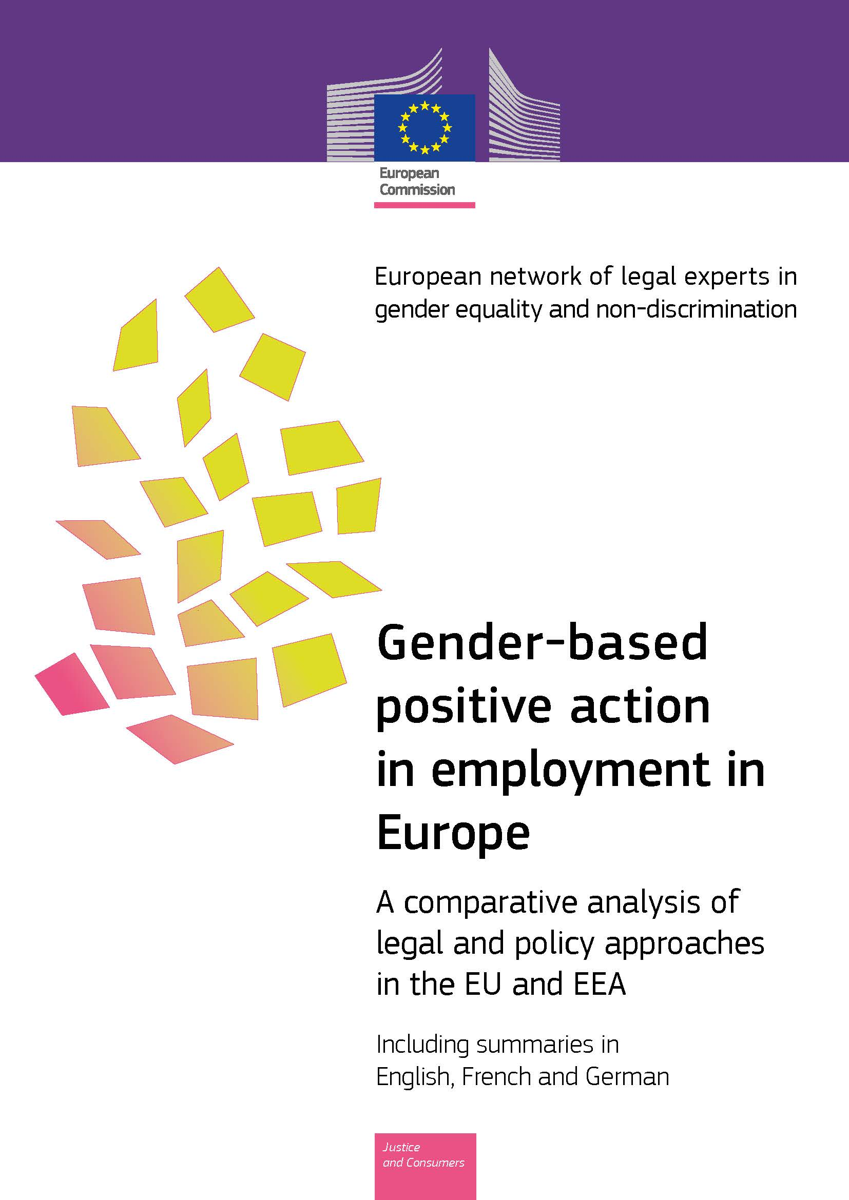 Cover image of Gender-based positive action in employment in Europe