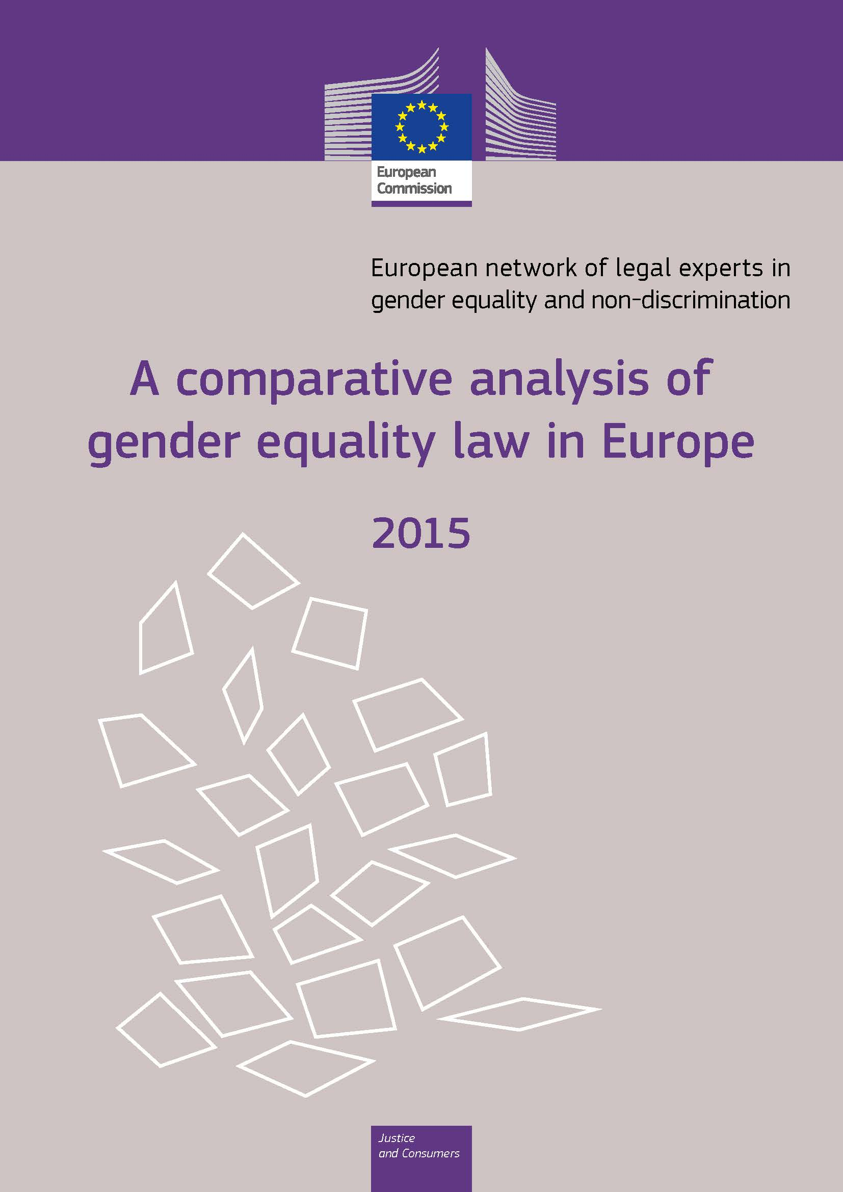Cover image of A comparative analysis of gender equality law in Europe 2015
