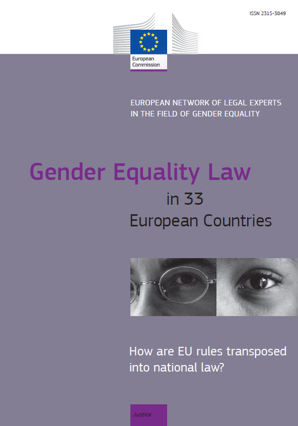 Cover image of Gender Equality Law in 33 European Countries